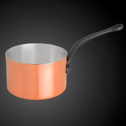 Copper pan with silver coating