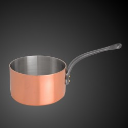 Copper pan with stainless...