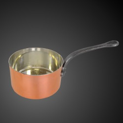 Copper pan with tin coating