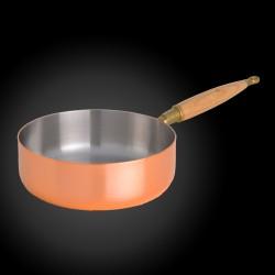 Copper sauté pan with...